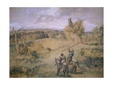 Don Quixote and Sancho Panza, 1894 Giclee Print by John Gilbert