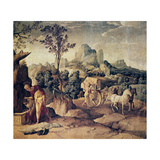 The Apostle Philip Baptizing the Eunuch, 16th Century Giclee Print by Jan van Scorel