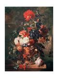Flowers, 1722 Giclee Print by Jan van Huysum