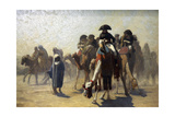 General Bonaparte with His Military Staff in Egypt, 1863 Giclee Print by Jean-Leon Gerome