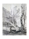 Man Struggling with a Goat, C1816-1875 Giclee Print by Jean-Baptiste-Camille Corot