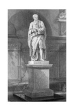 Statue of Sir Isaac Newton, English Mathematician, Astronomer and Physicist, 19th Century Giclee Print by John Le Keux