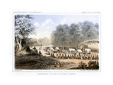 Distribution of Goods to the Gros Ventres 26 August 1853 Giclee Print by John Mix Stanley