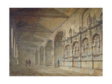 Interior of the Chapel of St Peter Ad Vincula, Tower of London, 1814 Giclee Print by John Coney
