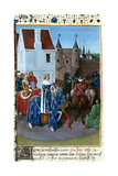 Entry of John II to Paris, 14th Century, (1455-146) Giclee Print by Jean Fouquet