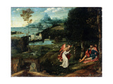 Landscape with the Legend of Saint Roch, Early 16th Century Giclee Print by Joachim Patinir