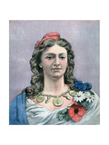 République, 1891 Giclee Print by Jean-Charles Gauthier