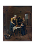 A Peasant Family at Meal-Time ('Grace before Meat), C1665 Giclee Print by Jan Steen