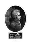Wolfgang Amadeus Mozart, 18th Century Austrian Composer, 1819 Giclee Print by John Chapman