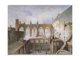 View of the Destruction of St Stephen's Chapel, Palace of Westminster, London, 1834 Giclee Print by John Taylor
