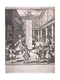 Stock Exchange, London, 1720 Giclee Print by James Cole