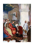 William I Granting a Charter to the City of London, 1075 Giclee Print by John Seymour Lucas