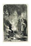 Macbeth Visiting the Three Witches on the Blasted Heath, 1858 Giclee Print by John Gilbert