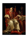 Portrait of Pope Pius VII, 1817 Giclee Print by Jean Baptiste Joseph Wicar