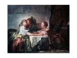 The Captured Kiss, Late 18th Century Reproduction procédé giclée par Jean-Honore Fragonard
