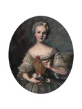 Madame Louise, Daughter of Louis Xv, Mid 18th Century Giclee Print by Jean-Marc Nattier