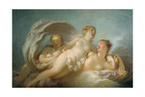 The Three Graces, 18th Century Impression giclée par Jean-Honore Fragonard