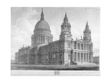 North-West View of St Paul's Cathedral, City of London, 1814 Giclee Print by John Buckler