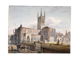 St Saviour's Church, Southwark, London, 1811 Giclee Print by John Coney