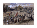On the March, 1874 Giclee Print by John Gilbert
