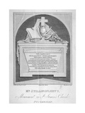 Monument in St James's Church, Piccadilly, London, C1825 Giclee Print by John Bacon