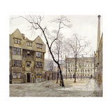 Barnard's Inn, London, 1888 Giclee Print by John Crowther