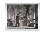 Interior of the Chapel of King Edward the Confessor, Westminster Abbey, London, C1817 Giclee Print by John Coney