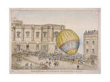 Hot Air Balloon in the Courtyard of Burlington House, Piccadilly, Westminster, London, 1814 Giclee Print by James Gillray