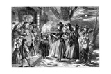 The Wassail Bowl, 1860 Giclee Print by John Gilbert