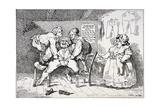 New Invented Elastic Breeches, 1784 Gicléetryck av John Nixon