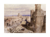 Harlech Castle from the Ramparts, Wales, 1850 Giclee Print by John Gilbert