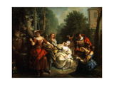 Taste (From the Series the Five Senses), Late 1720s or Early 1730s Giclee Print by Jean Raoux