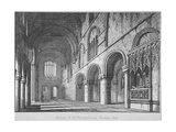Interior View of St Bartholomew's Priory, Smithfield, City of London, 1818 Giclee Print by John Coney