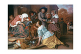 The Effects of Intemperance, 1663-1665 Giclee Print by Jan Steen