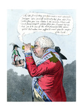 Napoleon and King George III as Gulliver and the King of Brobdingnag, July 1803 Giclee Print by James Gillray