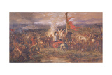 Battle of the Standard, Northallerton, Yorkshire, August 1138 Giclee Print by John Gilbert