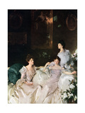 Lady Elcho, Mrs Tennant and Mrs Adeane, 1926 Giclee Print by John Singer Sargent