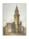 View of the Church of St James Garlickhythe, City of London, 1811 Giclee Print by John Coney