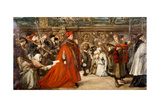 Cardinal Wolsey, Chancellor of England, on His Progress to Westminster Hall, 1887 Giclee Print by John Gilbert