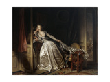 The Stolen Kiss, End 1780S Gicléetryck av Jean-Honore Fragonard