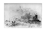 Canal Pres Rotterdam, (Canal Near Rotterda) C1830-1890 Giclee Print by Johan Barthold Jongkind