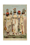 Parisian Ladies in their Full Winter Dress for 1800, 1799 Giclee Print by James Gillray