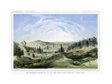 Hot Springs at their Source in Lou Lou Fork, Bitterroot Mountains, Montana, USA, 1856 Giclee Print by John Mix Stanley