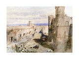 Harlech Castle from the Ramparts, 1850 Giclee Print by John Gilbert