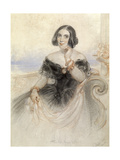 Lady in a Black Dress, 1847 Giclee Print by John Hayter