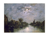 Dutch Channel in the Moonlight, C1840-1891 Giclee Print by Johan Barthold Jongkind