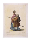 A Macarony Alderman and His Rib, C1770 Giclee Print by James Caldwall