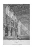 Interior View of the Church of St Bartholomew-The-Great, Smithfield, City of London, 1809 Giclee Print by John Burnet