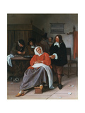 A Man Offering an Oyster to a Woman, C1660-1665 Giclee Print by Jan Steen