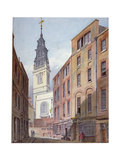 Church of St Michael, Crooked Lane and Part of Crooked Lane, City of London, C1815 Giclee Print by John Coney